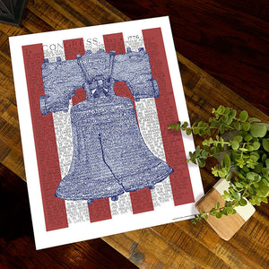 Liberty Bell Declaration of Independence Decor