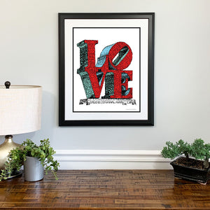 Love Statue Gift Framed