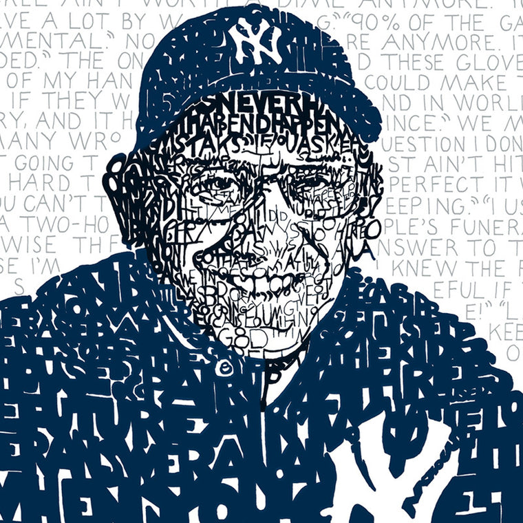 Yogi Berra Word Art Print