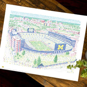 Michigan Wolverine Stadium Poster