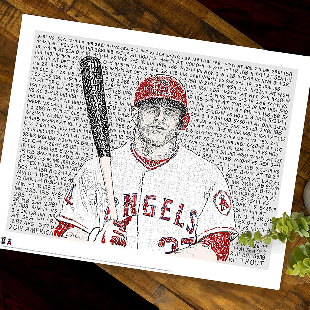 Los Angeles Angels Mike Trout Poster