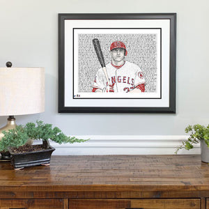 Mike Trout Gift Framed