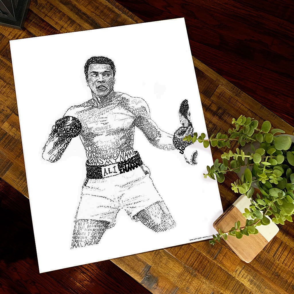 Muhammad Ali Word Art by Dan Duffy