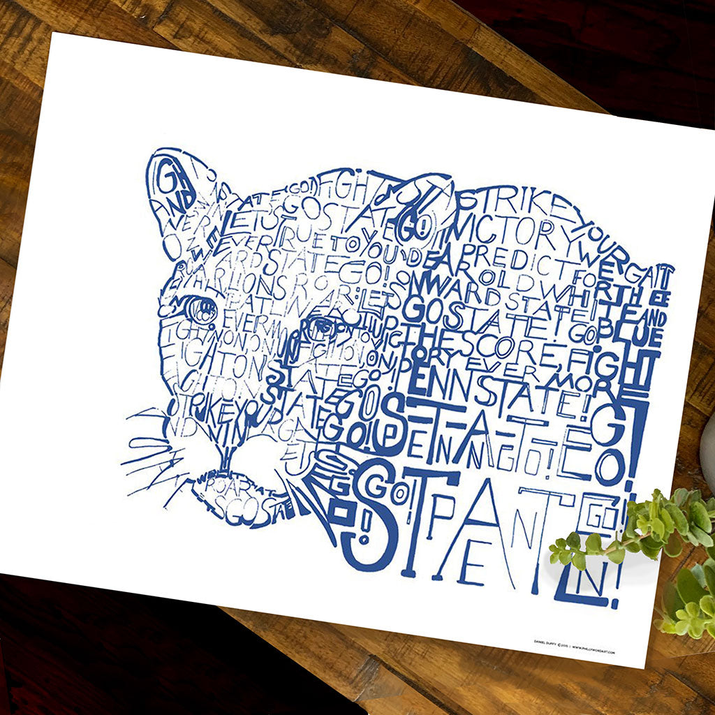 Penn State Word Art by Dan Duffy