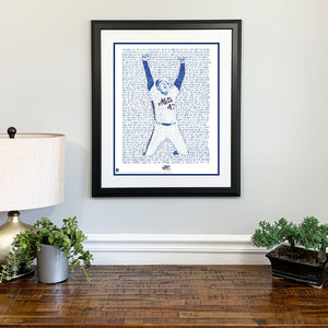 1986 New York Mets Jesse Orosco Gift Framed