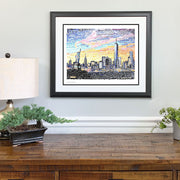 NYC Skyline Gift Framed