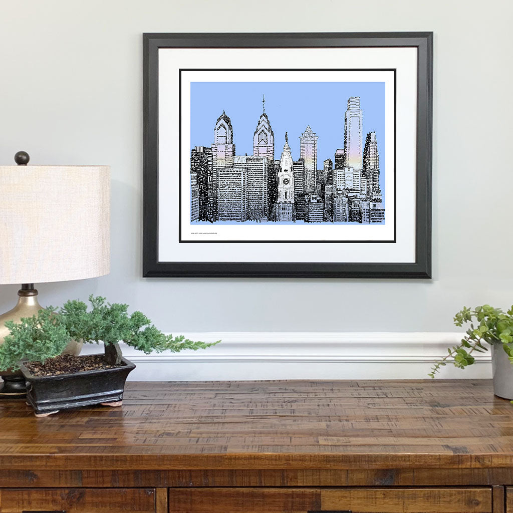 Philadelphia Skyline Gift Framed