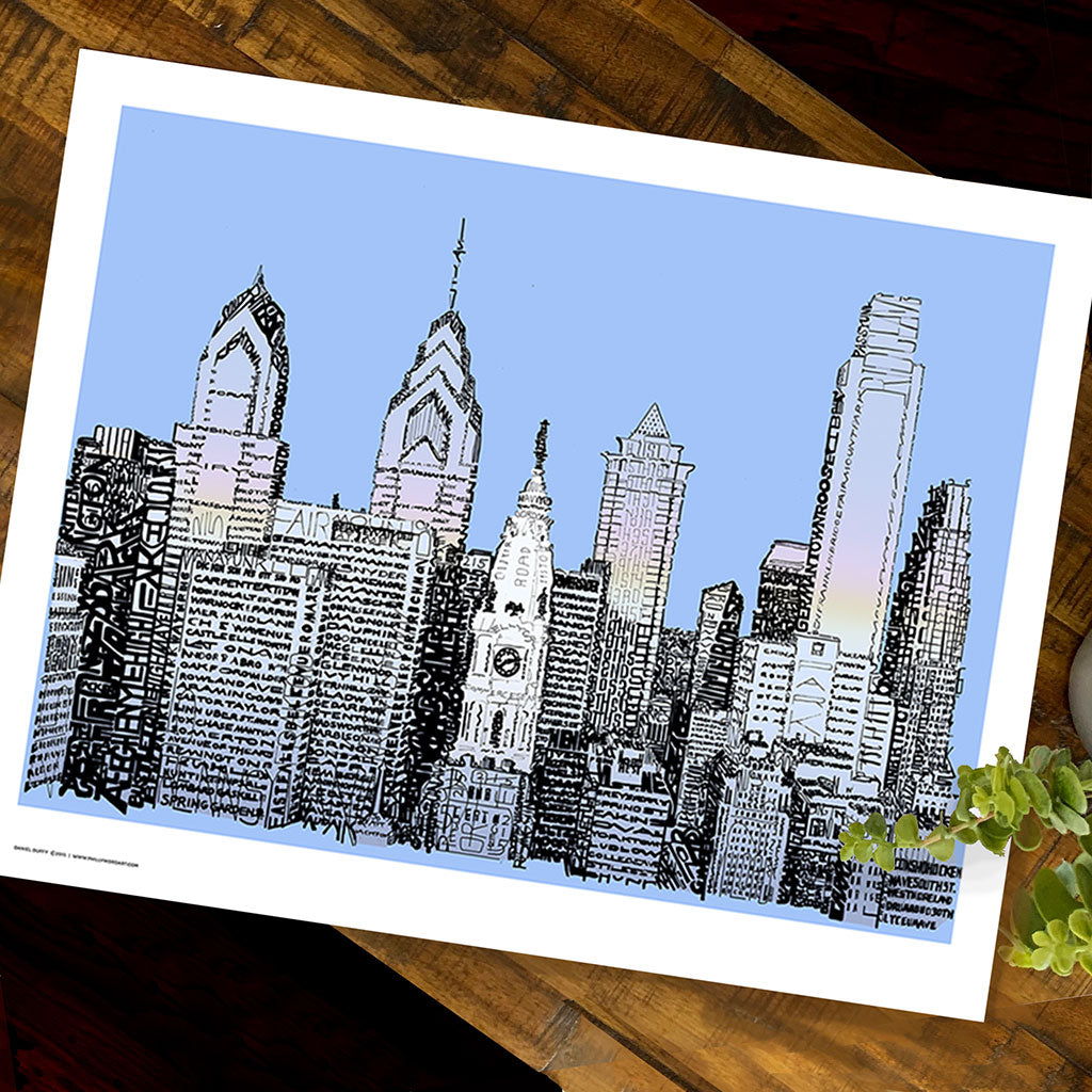 Philadelphia Skyline Decor