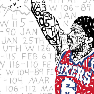 Julius Erving 76ers Art