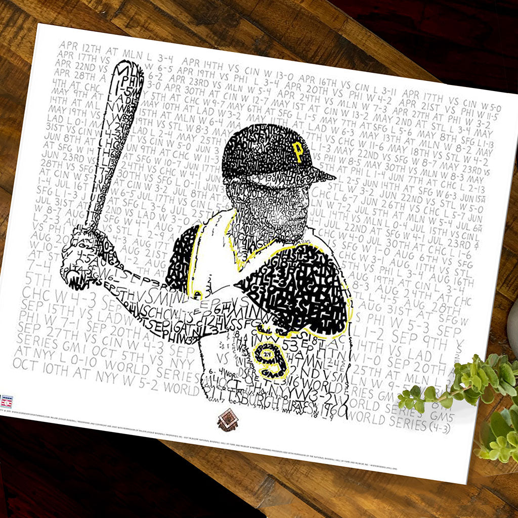 1960 Pittsburgh Pirates Word Art Print