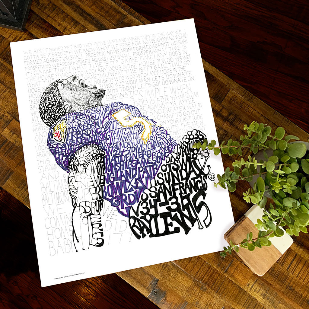Baltimore Ravens Ray Lewis Wall Art Poster