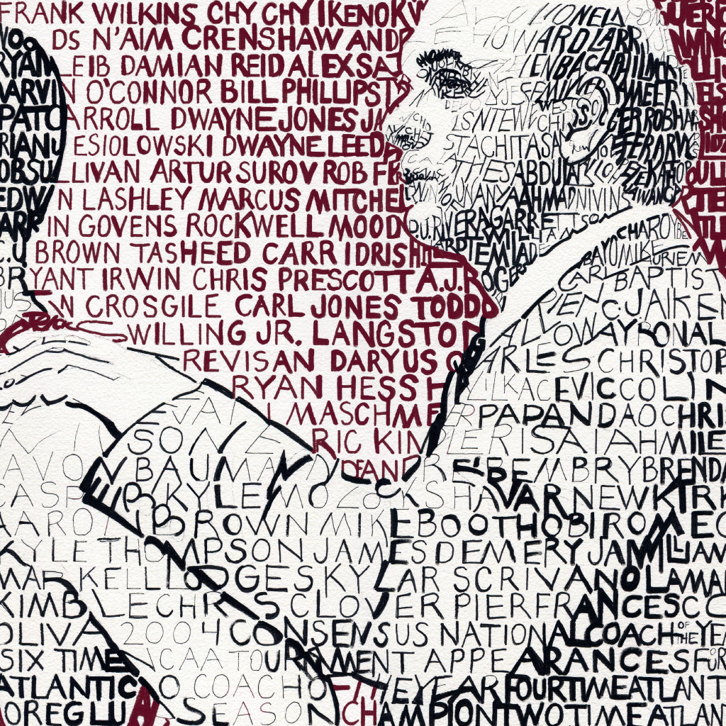 Phil Martelli Word Art by Dan Duffy