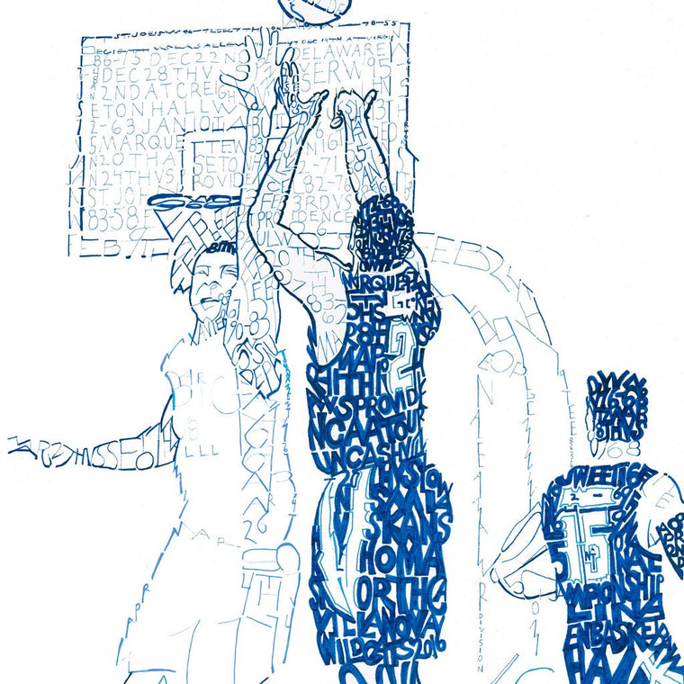 "Villanova 2016 National Champs Word Art Print - 16"" x 20"""