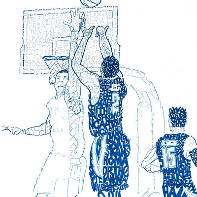 2016 Villanova Wildcats Word Art by Dan Duffy