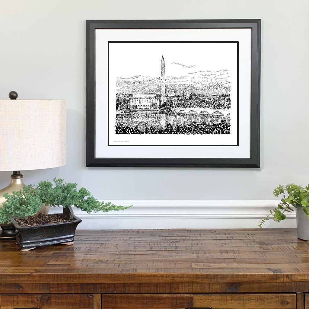 Washington DC Gift Framed
