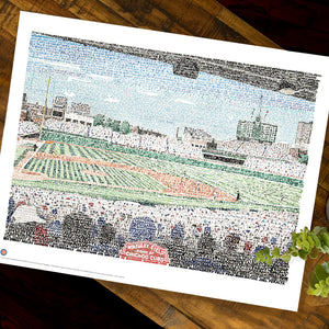 Wrigley Field Word Art by Dan Duffy