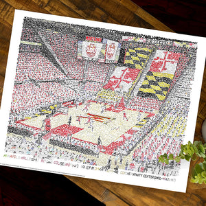Maryland Basketball Poster