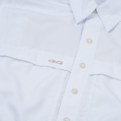 White MicroFiber Shirt | Long Sleeve - GameGuard Outdoors