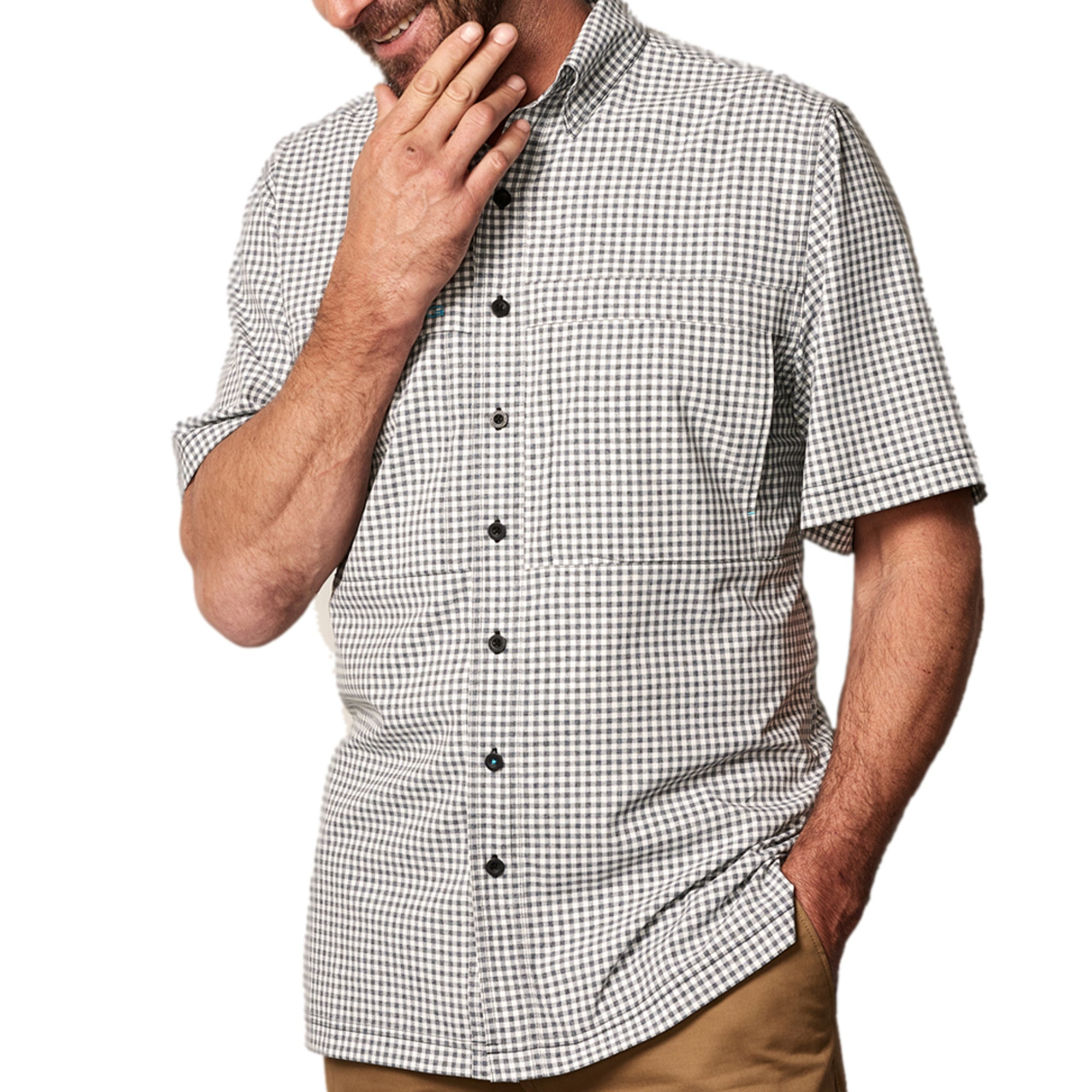 White TekCheck Shirt | Pop - GameGuard Outdoors