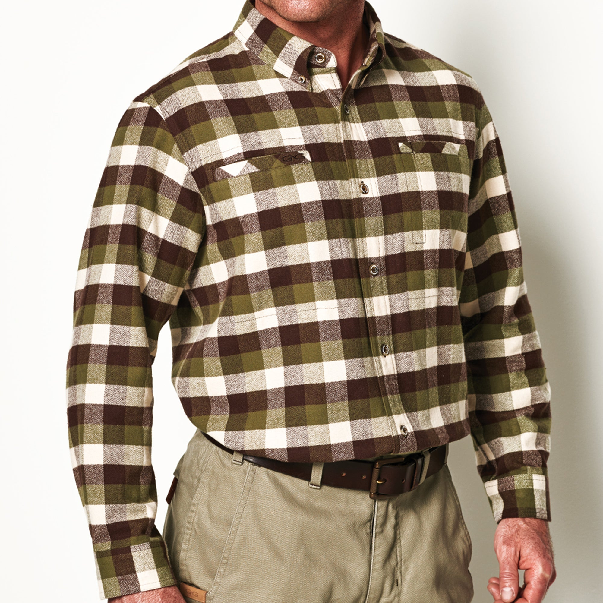 Olive Flannel Shirt - GameGuard Outdoors