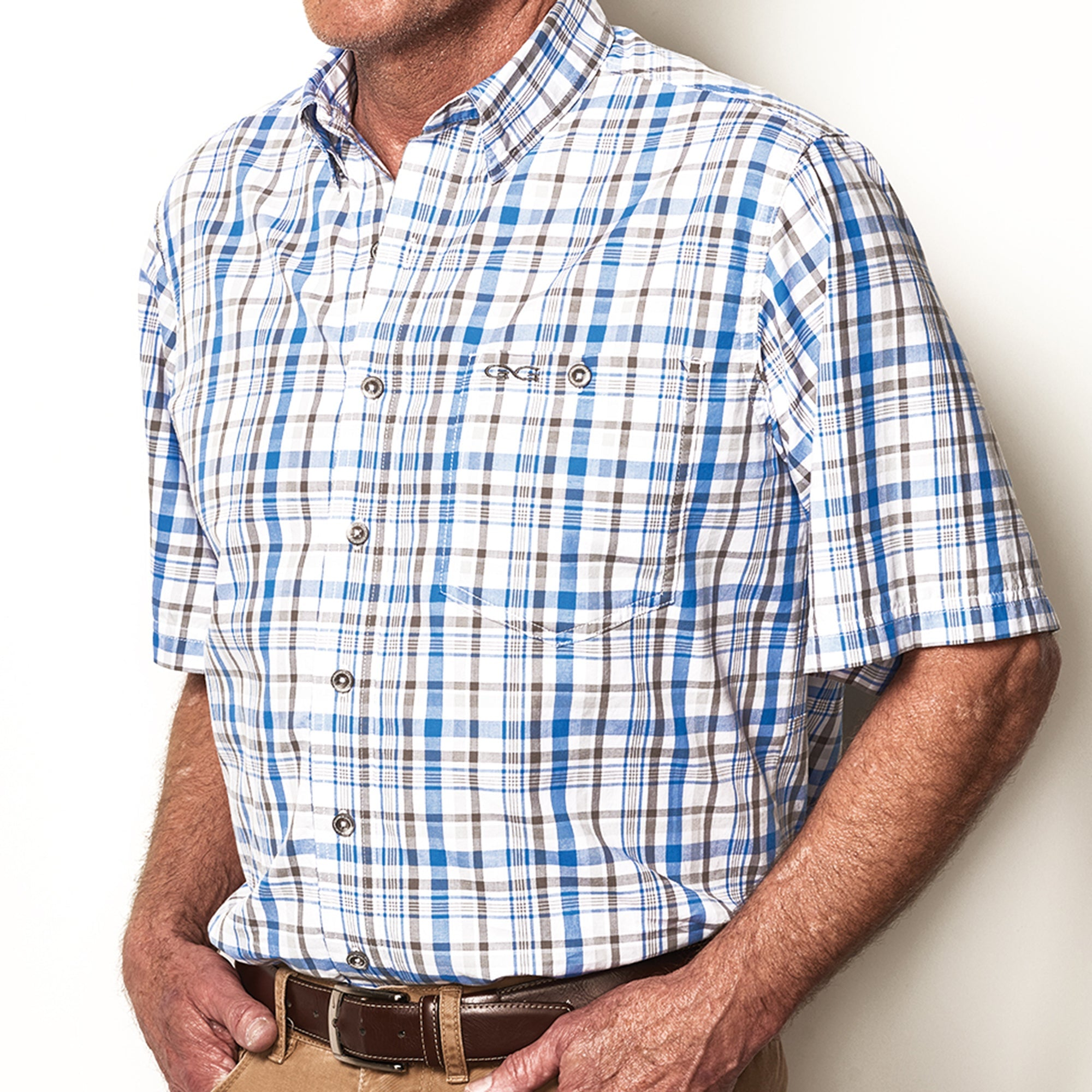 Pacific Blue Plaid Shirt - GameGuard Outdoors