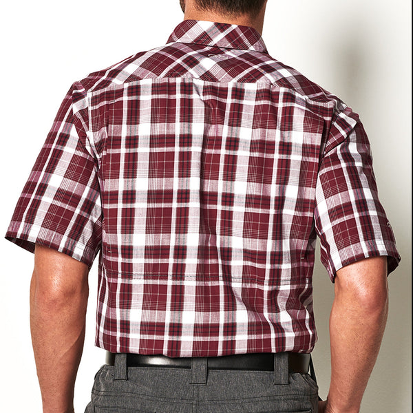 Maroon Plaid Shirt - GameGuard Outdoors