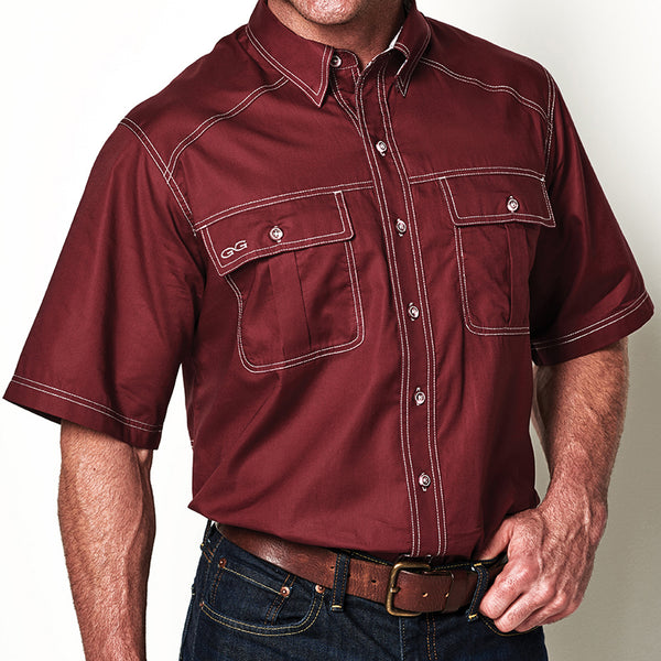 Maroon Cotton Shirt - GameGuard Outdoors