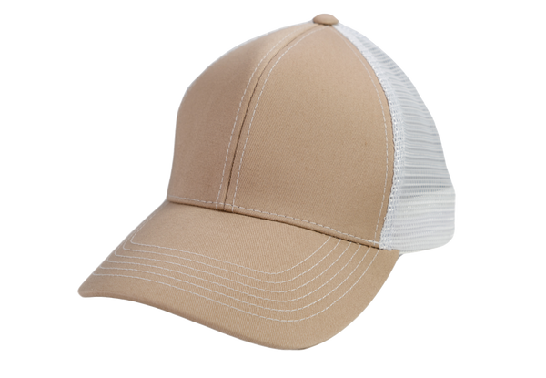 Khaki Cap | White MeshBack - GameGuard Outdoors