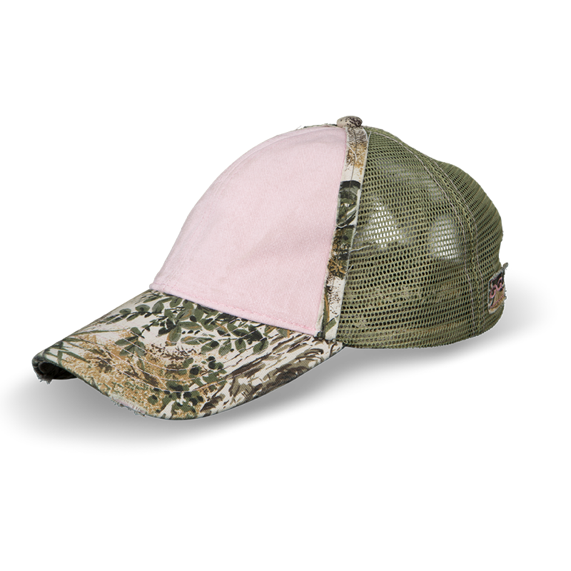 Pink Distressed Cap | GameGuard | Mesquite MeshBack - GameGuard Outdoors