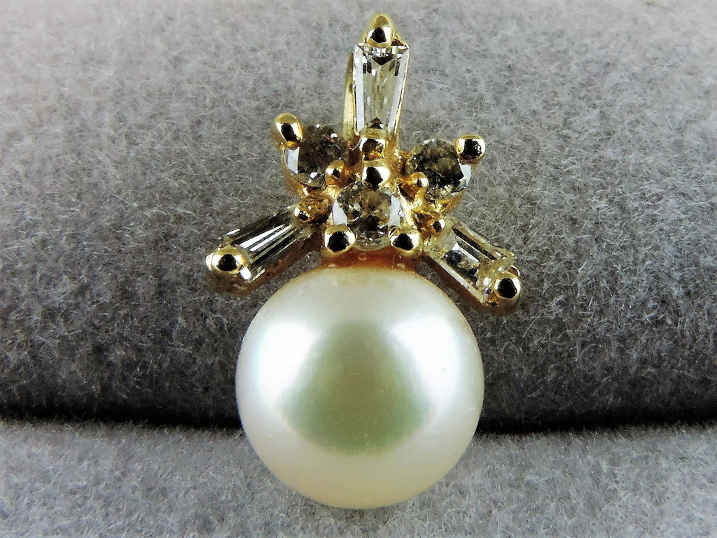Classic Diamonds and Pearl Pendant