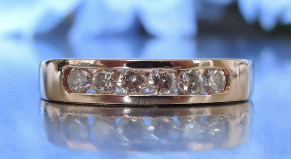 CHANNEL SET ROSE GOLD DIAMOND WEDDING RING
