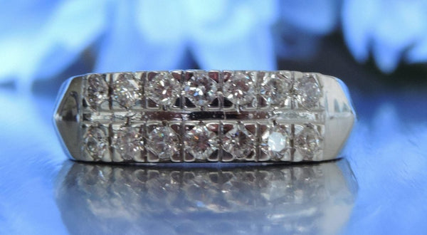 CLASSIC TWO ROW HALF ETERNITY WEDDING RING