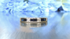 DIAMOND AND BLUE SAPPHIRE HALF ETERNITY RING