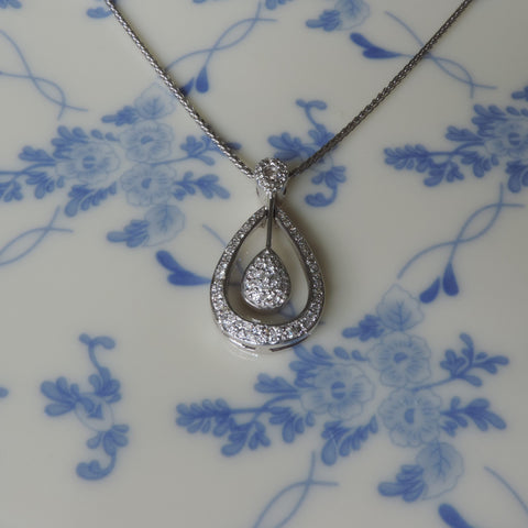 TEAR  DROP-STYLE PENDANT WITH NECKCHAIN