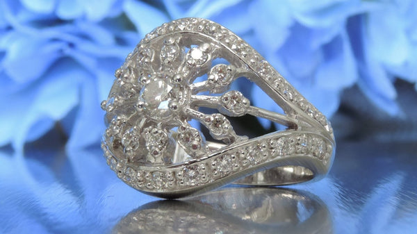 SNOWFLAKE CLUSTER CELEBRATION DIAMOND RING