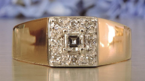 SQUARE CLUSTER DIAMOND RING