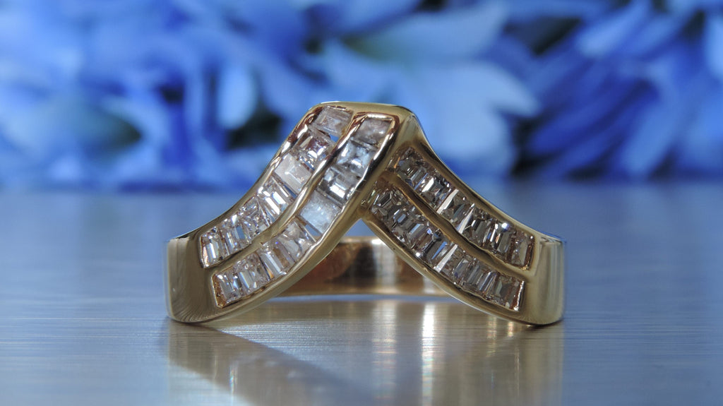 Swirl Half Eternity Statement Wedding Ring