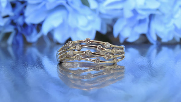 TWIG DESIGN DIAMOND RING