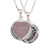 "Love Hearts Classic ""I Love You"" Lilac Enamel & Purple Crystal Pendant"