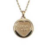"Love Hearts Classic ""I Love You"" Gold Plate Pendant"