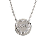 "Love Hearts - Mini ""Love"" Silver Pendant"