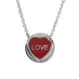 "Love Hearts - Mini ""Love"" Red Enamel Pendant"