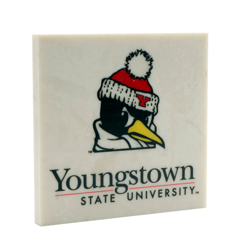 Officially Licensed Logo'd Youngstown State University Drink Coaster 004