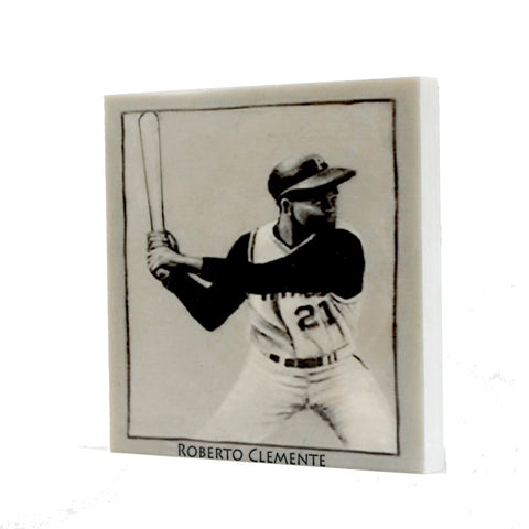 Roberto Clemente White House Card Drink Coaster - 014
