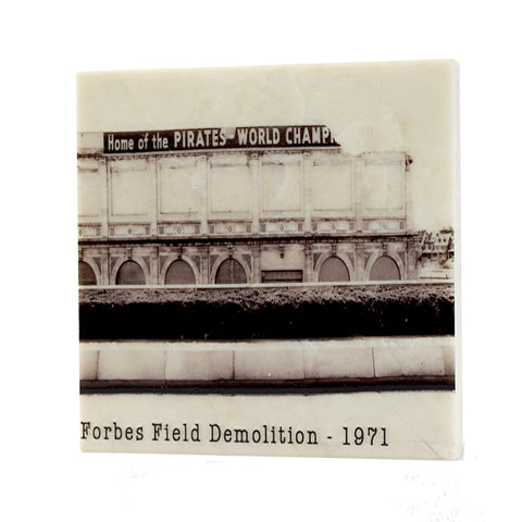 Demolition of Forbes Field Drink Coaster - 016