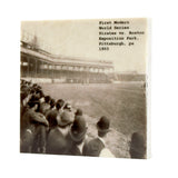 1903 Pittsburgh Pirates First Modern World Series Drink Coaster - 017