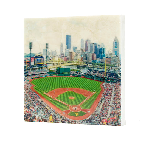 Interior of PNC Park with Pittsburgh Skyline Drink Coaster - 025