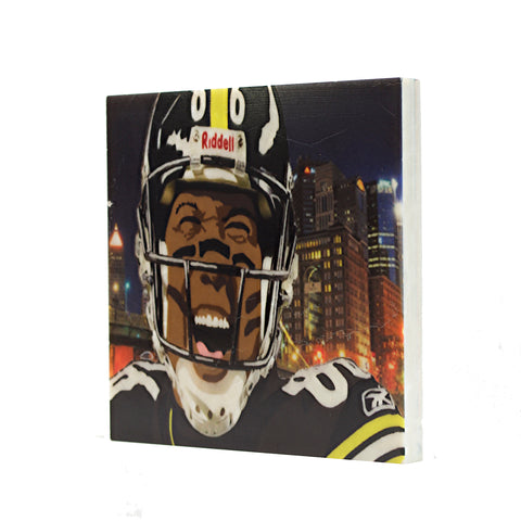 Retired Pittsburgh Steeler Hines Ward Coaster - 033