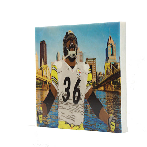 Retired Pittsburgh Steeler Jerome Bettis Coaster - 034