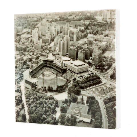 Aerial of Forbes Field Drink Coaster - Pittsburgh, PA - 160